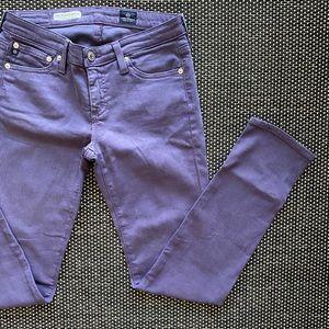 AG Purple Stevie Ankle Jeans